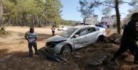 Otomobil takla attı: 3 yaralı