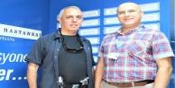 Polis memurundan hayatını kurtaran doktora teşekkür