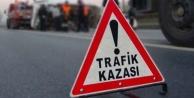 Alanya'da motosikletin lastiği patlayan sürücü yaralandı