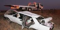 Alanya'da kontrolden çıkan araç takla attı: 2 yaralı var