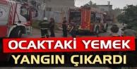 Alanya'da ocakta unutulan yemek yangın çıkardı