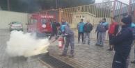 Bahçeşehir Okulları Oba Stadyumu'nda yangın tatbikatı yapıldı