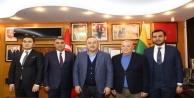 Bakan Çavuşoğlu'ndan Başkan Şahin'e taziye ziyareti