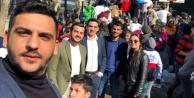 CHP'li gençler Alanya'ya kar getirdi