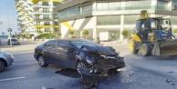 Alanya'da otomobil hurdaya döndü!