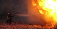 Alevler metrelerce yükseldi, güvenlik kulübeleri forkliftle taşındı