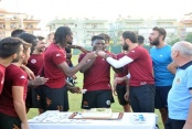 Gassama'ya antrenman sahasında kutlama