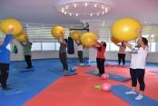 Alanya Belediyesi'nin spor merkezine yoğun ilgi