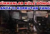 Alanya Sanayi Sitesinde korkutan yangın