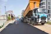 Alanya Belediyesi'nden sıcak asfalt atağı
