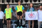 Belediyesporlu triatletler Ünye'den ödülle döndüler
