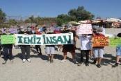 Alanya'da çocuklar sahil temizliği yaptı