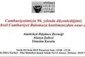 ADD 'Cumhuriyet Balosu' düzenliyor