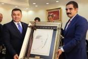 Sinan Ateş'den başkan Yücel'e ziyaret