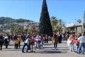 Alanya'da kurulan Noel Pazarı'na yoğun ilgi