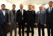 Ülkücülerden başkan Yücel'e ziyaret