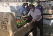 CHP şehitleri ziyaret etti
