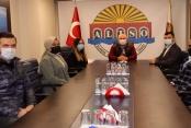 AK Gençlik Alanya yönetimi ALTSO Başkanı Mehmet Şahin'i ziyaret etti