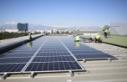 Büyükşehir çatısına güneş panellerinin montajına...