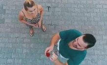 Milli güreşçinin dronlu evlilik teklifi turizmci nişanlısını sevince boğdu