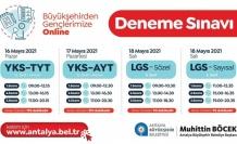 Büyükşehir'den  gençlerimize online deneme sınavı