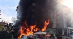 İşte kare kare Alanya'daki yangın anları