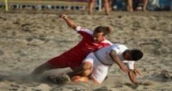 Plajda futbol heyecanı başlıyor