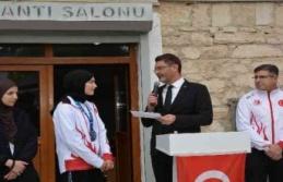 Dünya ikincisi Sena Nur'a özel karşılama
