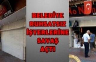 RUHSATSIZ 'NONAME' BUTİK MÜHÜRLENDİ