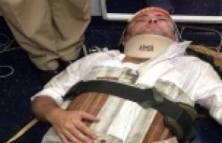 Gemide yaralanan kişi, kurtarıldı