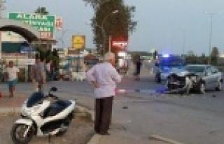 Alanya girişinde kaza: 6 yaralı var