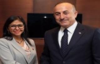 Çavuşoğlu, Venezuela Dışişleri Bakanı ile bir...