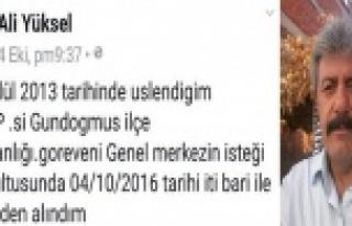 MHP'nin Gündoğmuş teşkilatı görevden alındı