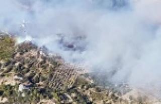 Serik'teki dev yangın devam ediyor