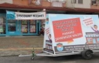 Alanya'da zincir marketlere ilginç tepki