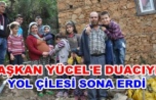 Sekiz çocuklu ailenin yol çilesi bitti