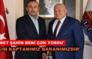 Çavuşoğlu Şahin'i tebrik etti