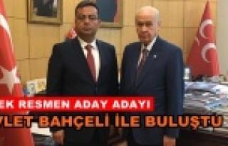 MHP'li Özbek resmen başvurdu