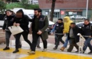 Alanya'da yakalanan 8 uyuşturucu taciri adliyede!
