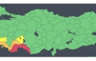 """Antalya için """"kırmızı kodlu"""" uyarının..."""