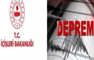 """İçişleri Bakanlığı: """"Depremde herhangi..."""