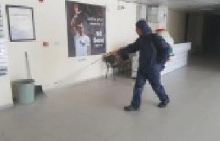 Bahçeşehir Okulları Stadyumu'nda dezenfeksiyon...