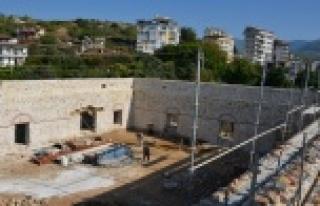Alanya Gülevşen Camii  yeniden hayat buluyor