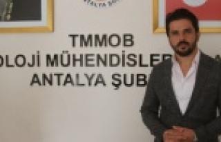 Jeoloji Mühendisleri Odası'ndan Antalya ve...