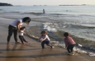 Alanya'da yılın ilk günlerinde deniz keyfi