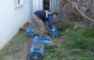Depodan 10 adet dalgıç pompası çalan şüpheli...