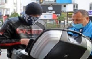 Sivil trafik polisinin durdurduğu motosikletli alkollü...