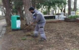 19 ilçede mezarlıklara bahar temizliği