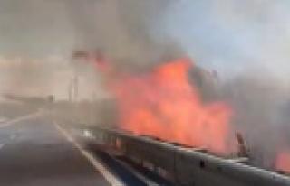 Alanya'da muz bahçesi alev alev yandı