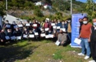 Alanya'da 110 üreticiye sertifika verildi